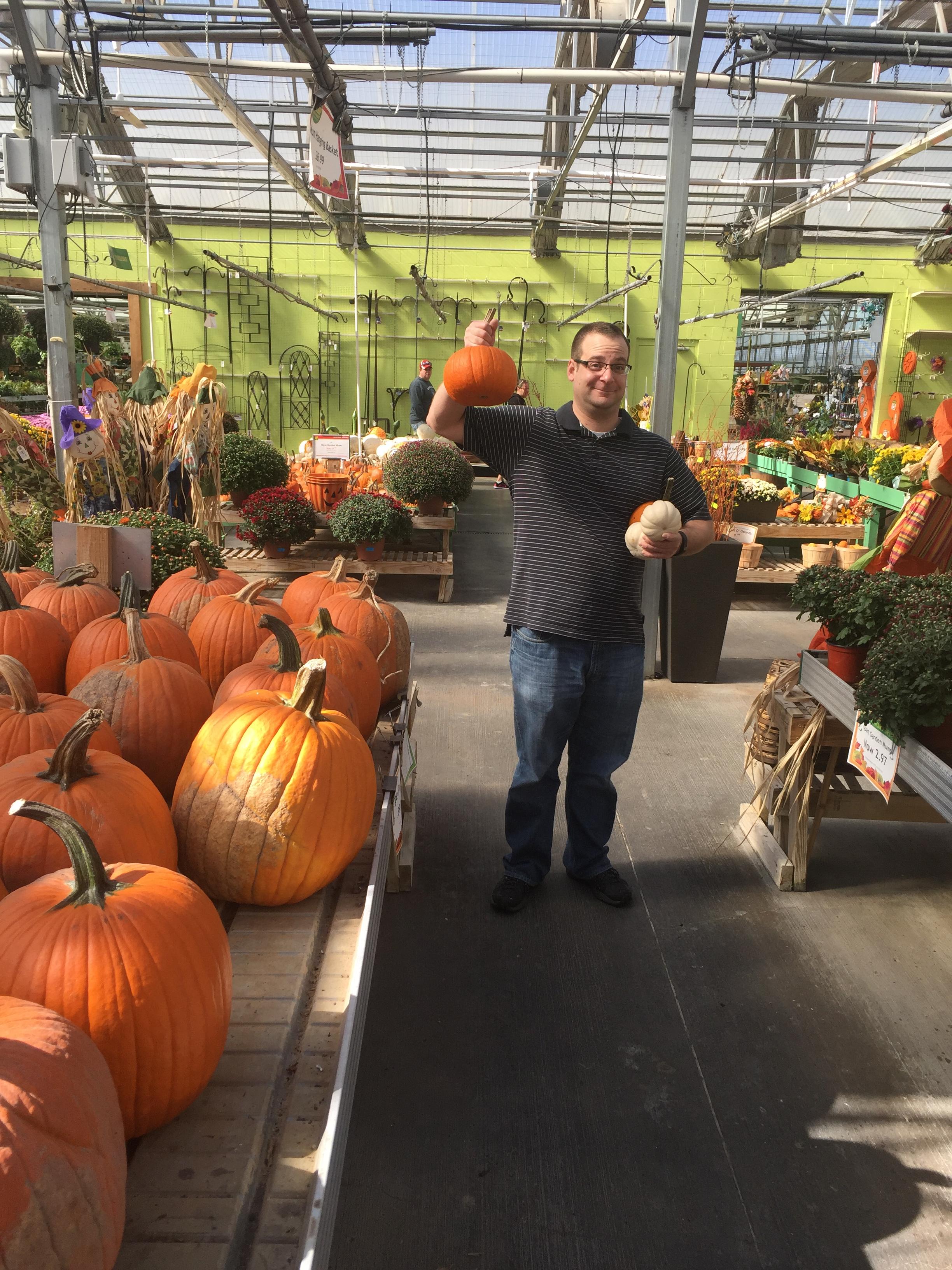 Steve pumpkin shopping.JPG