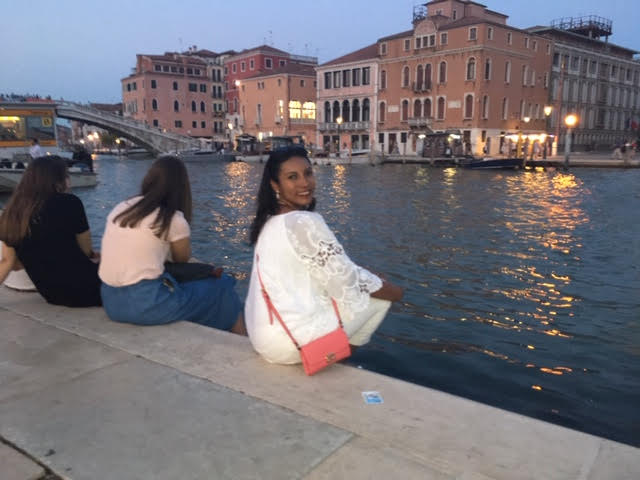 It was so romantic down by the Grand Canal of Venice
