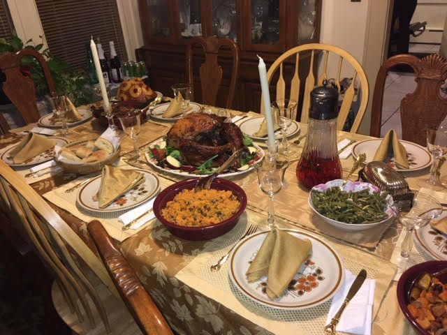 Thanksgiving, Puerto Rican/Dominican style with Kat's family