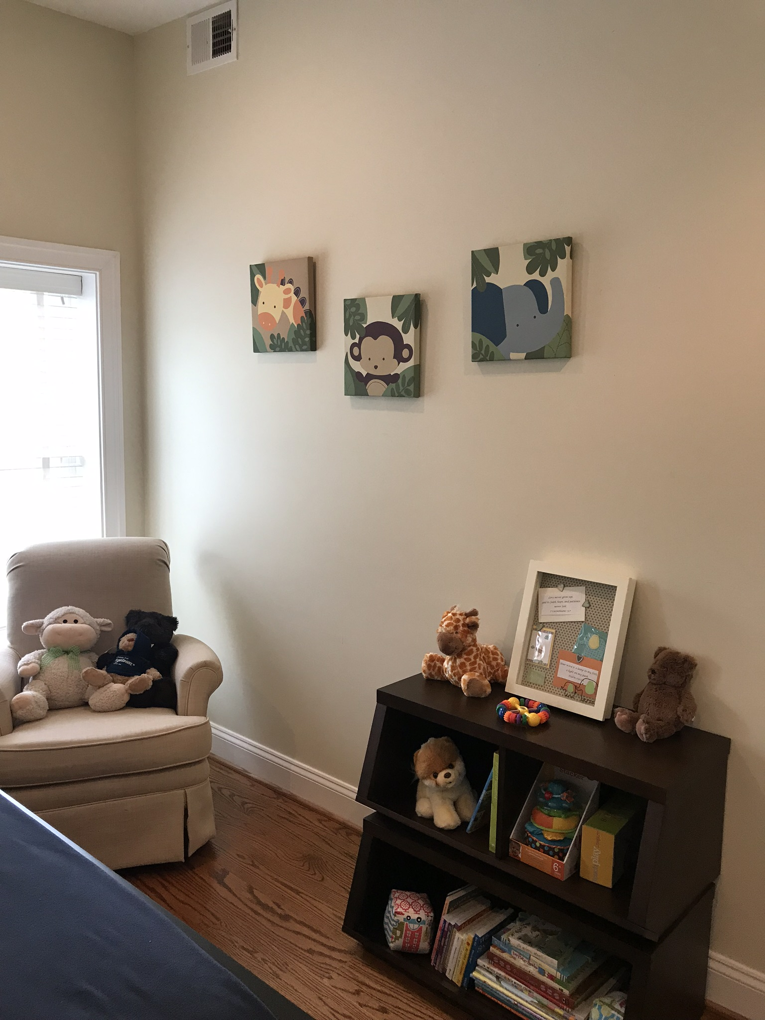 Baby's nursery is ready and waiting