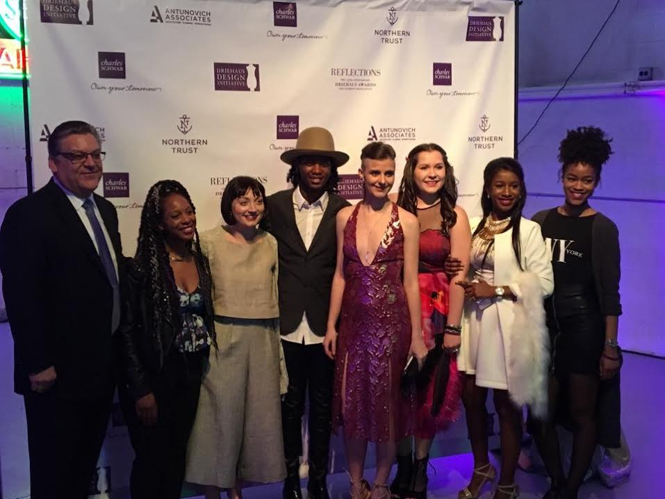 Daniel Robison Fashion Director at The Illinois Institute of Art - Chicago with us seven fashion design students selected from our school to show at the Driehaus Design Initiative.