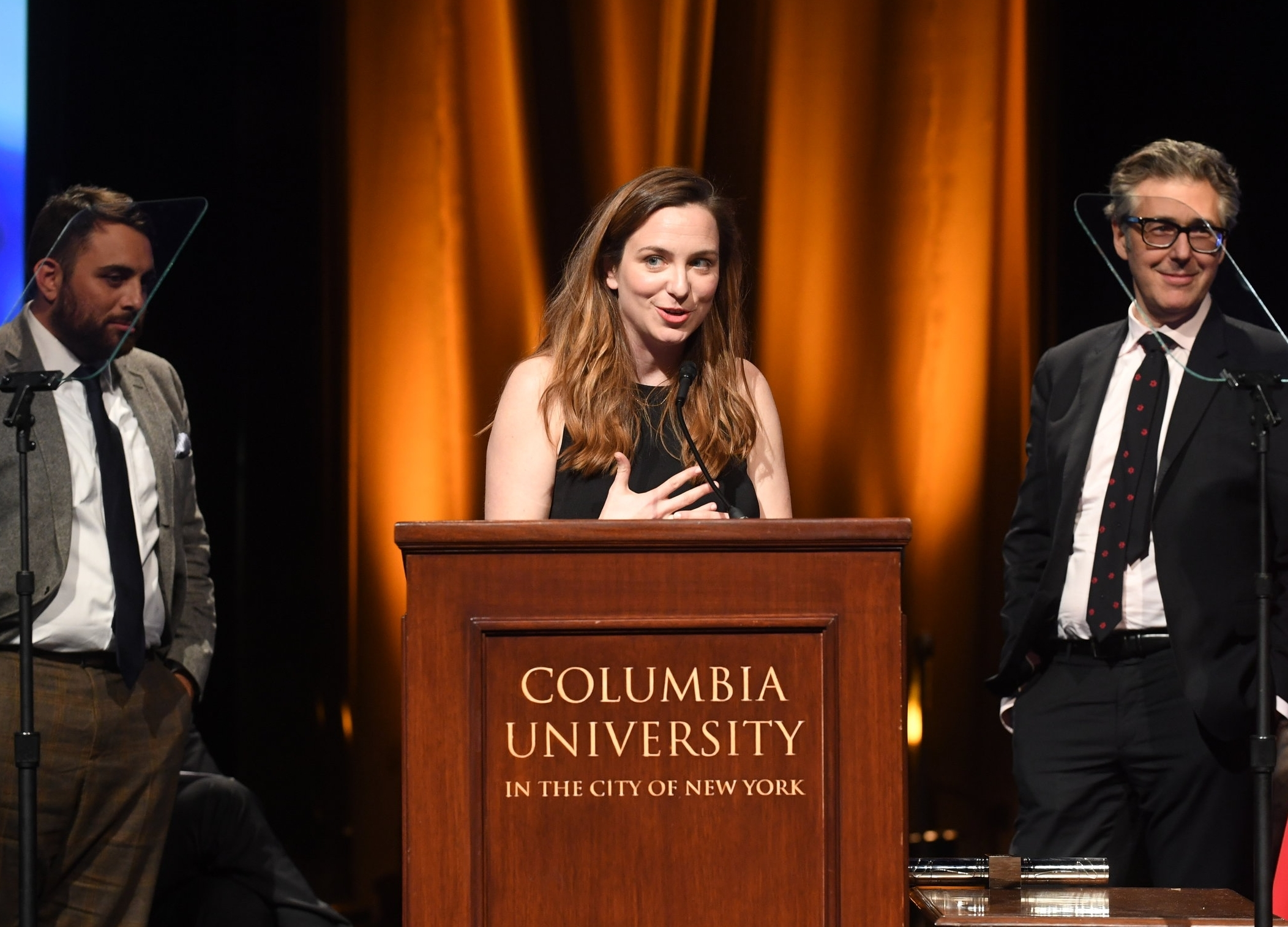 Zoe Chace accepting the 2018 duPont-Columbia Award for This American Life.