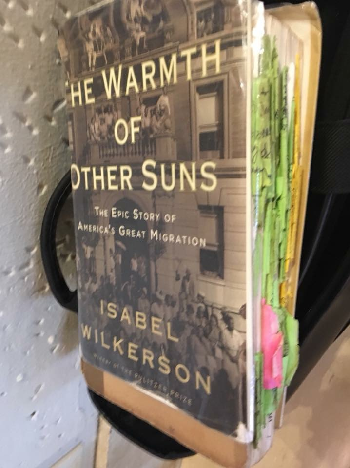 Wilkerson brought her reference copy of the book to the J School.