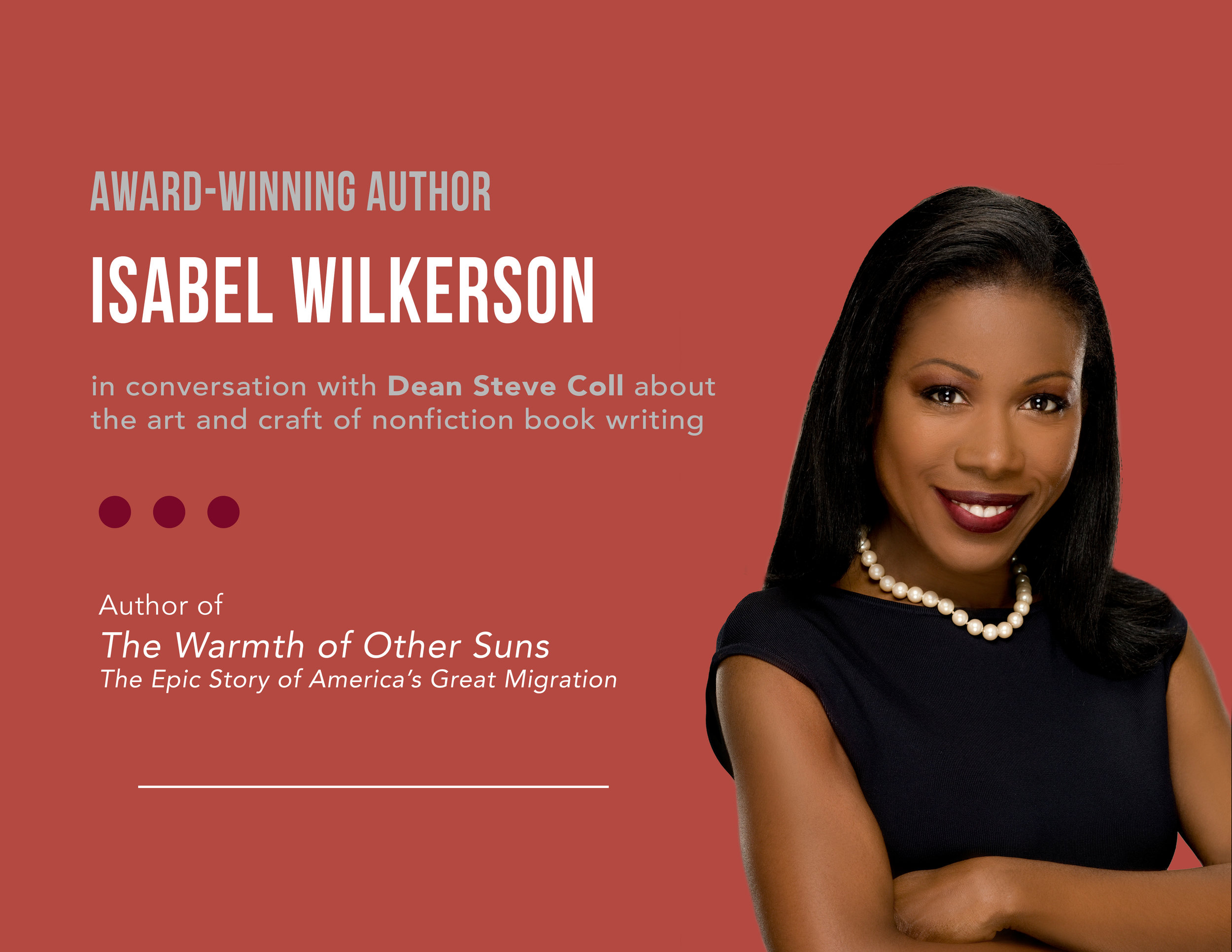 "Isabel Wilkerson discusses the award-winning ""The Warmth of Other Suns"" at the Columbia Journalism School."