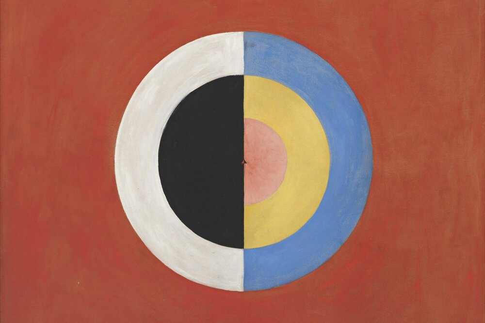 Hilma Af Klint, Group IX/SUW, The Swan, NO. 17, 1915. The Moderna Museet. Stockholm. The New Republic.  https://newrepublic.com/article/153267/universe-according-hilma-af-klint . Sept 7, 2019.