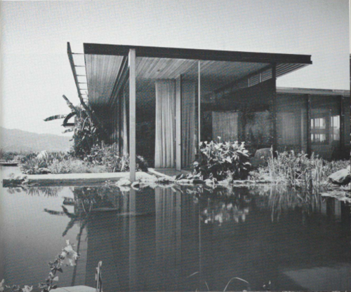 "Shulman, Julius. "" Kaufmann House, Richard Neutra, 16 x 20 inches. Slver gelatin print. Palm Springs, California,  1947."" Jackson Fine Art. https://www.jacksonfineart.com/julius-shulman/kaufmann-house. Sept 5, 2019."