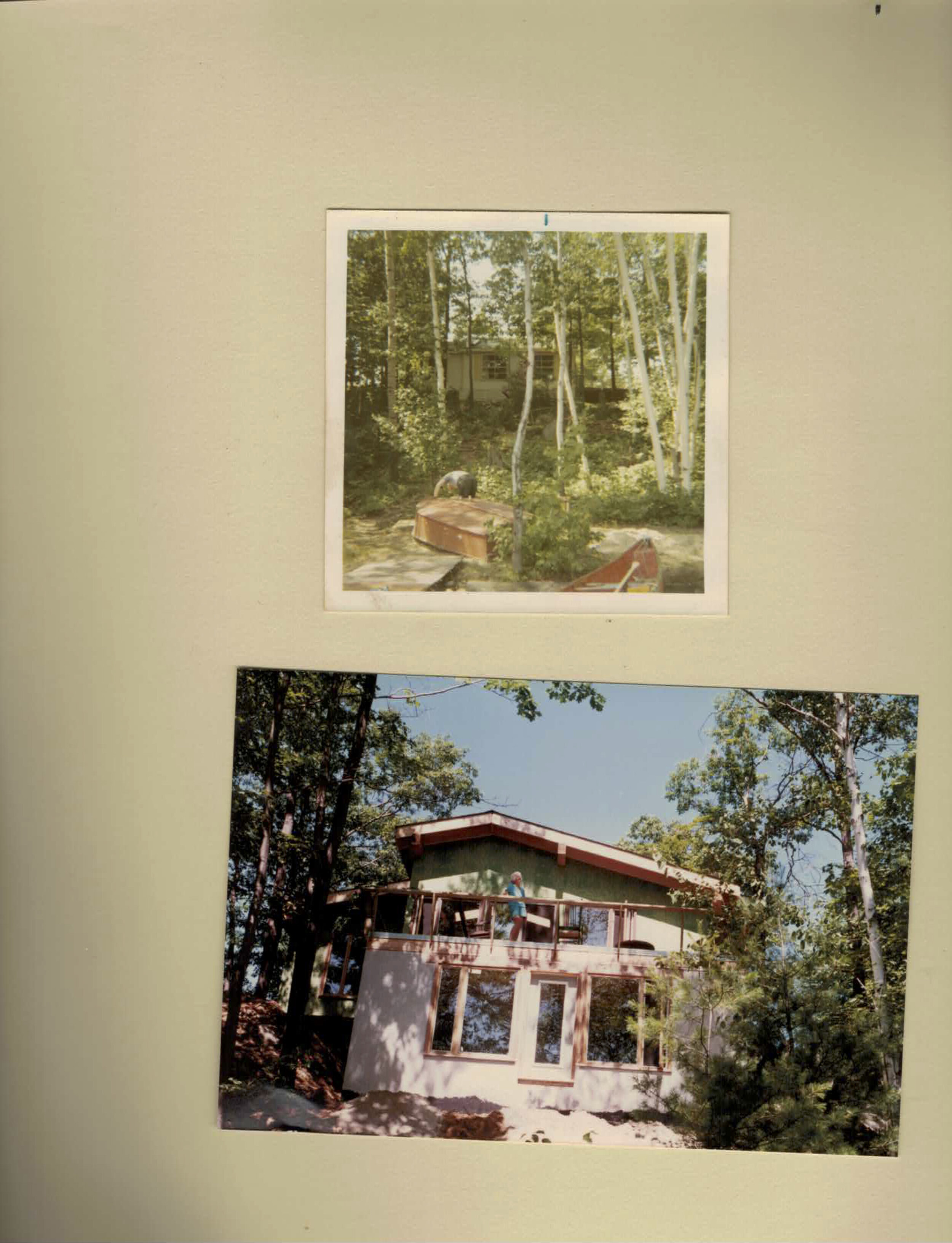 Coon, Nicole. Cottage in 1971 and 2003. 2019. Scan.