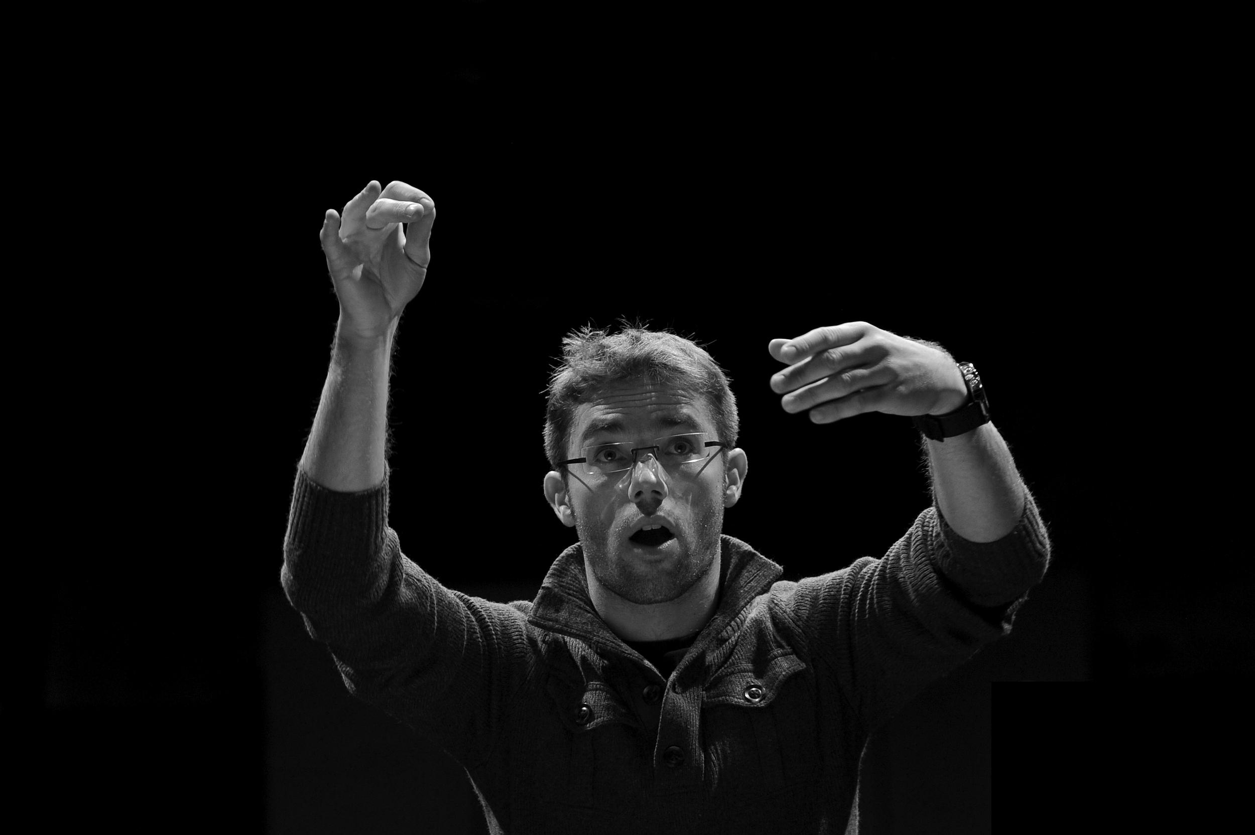Teatro alle Tese, Venice| Ensemble intercontemporain  Berio,  Laboritus II  (in rehearsal with Accentus)  © Jean Radel - October 2010