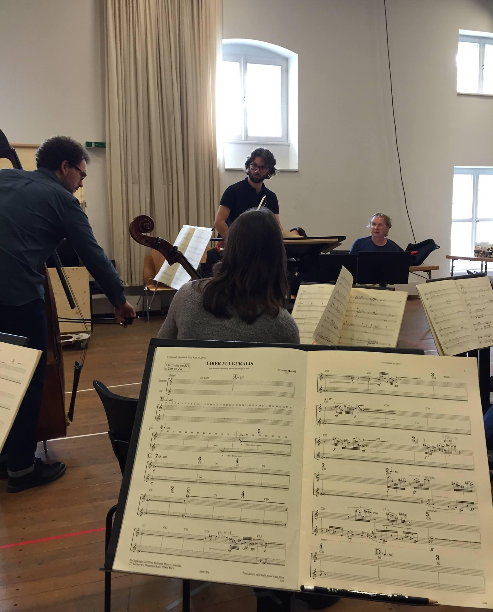 Salzburg, Austria | ICE Ensemble (NYC) & L'Itinéraire  Murail, Liber Fulguralis   June 2016
