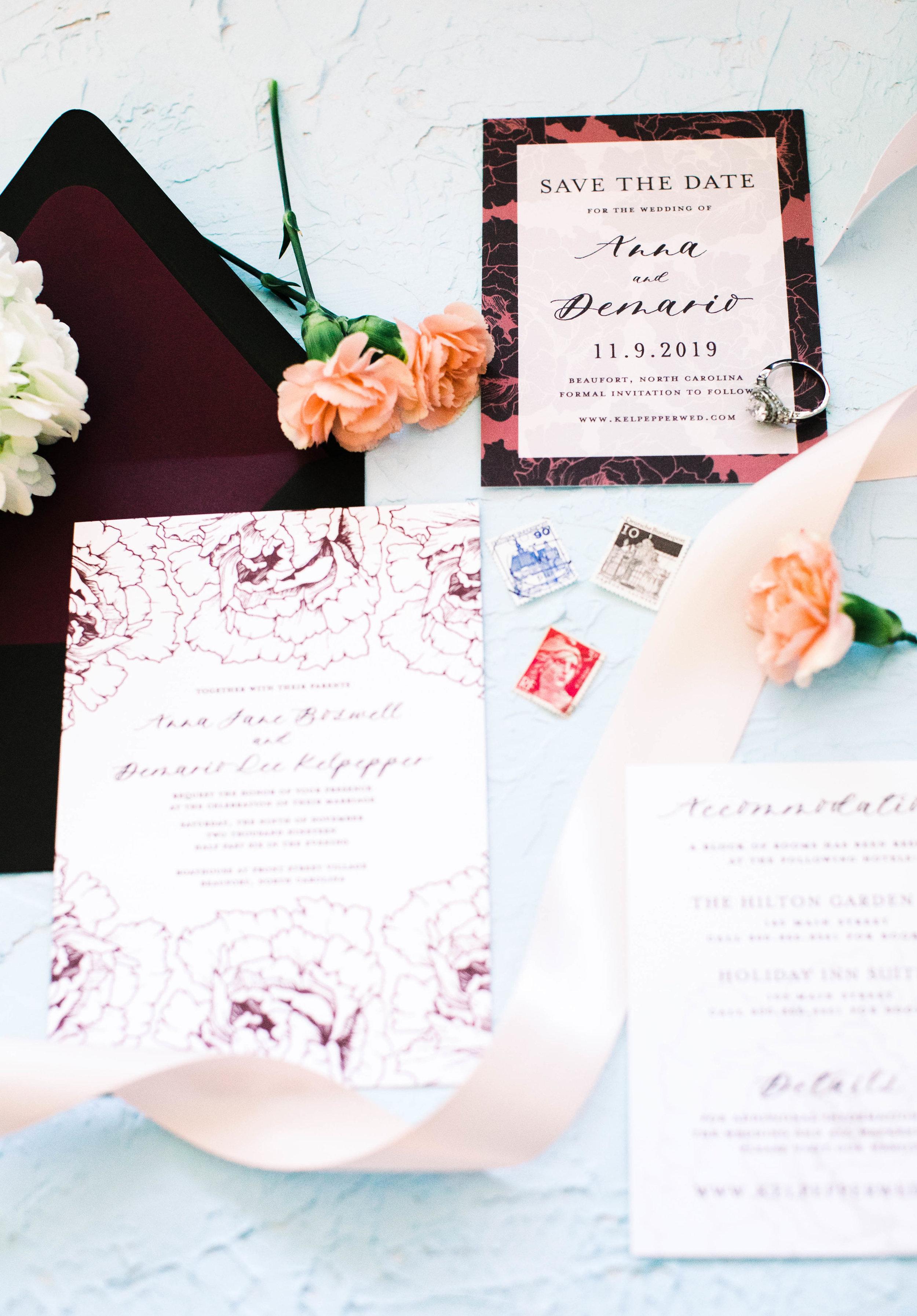 Anna Hand Drawn Wedding Invitation Burgundy Peonies Feathered Heart Prints3W2A0354.jpg