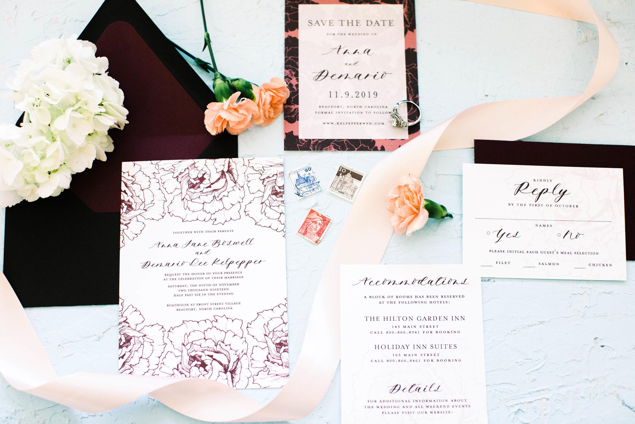 Anna Hand Drawn Wedding Invitation Burgundy Peonies Feathered Heart Prints3W2A0362.jpg