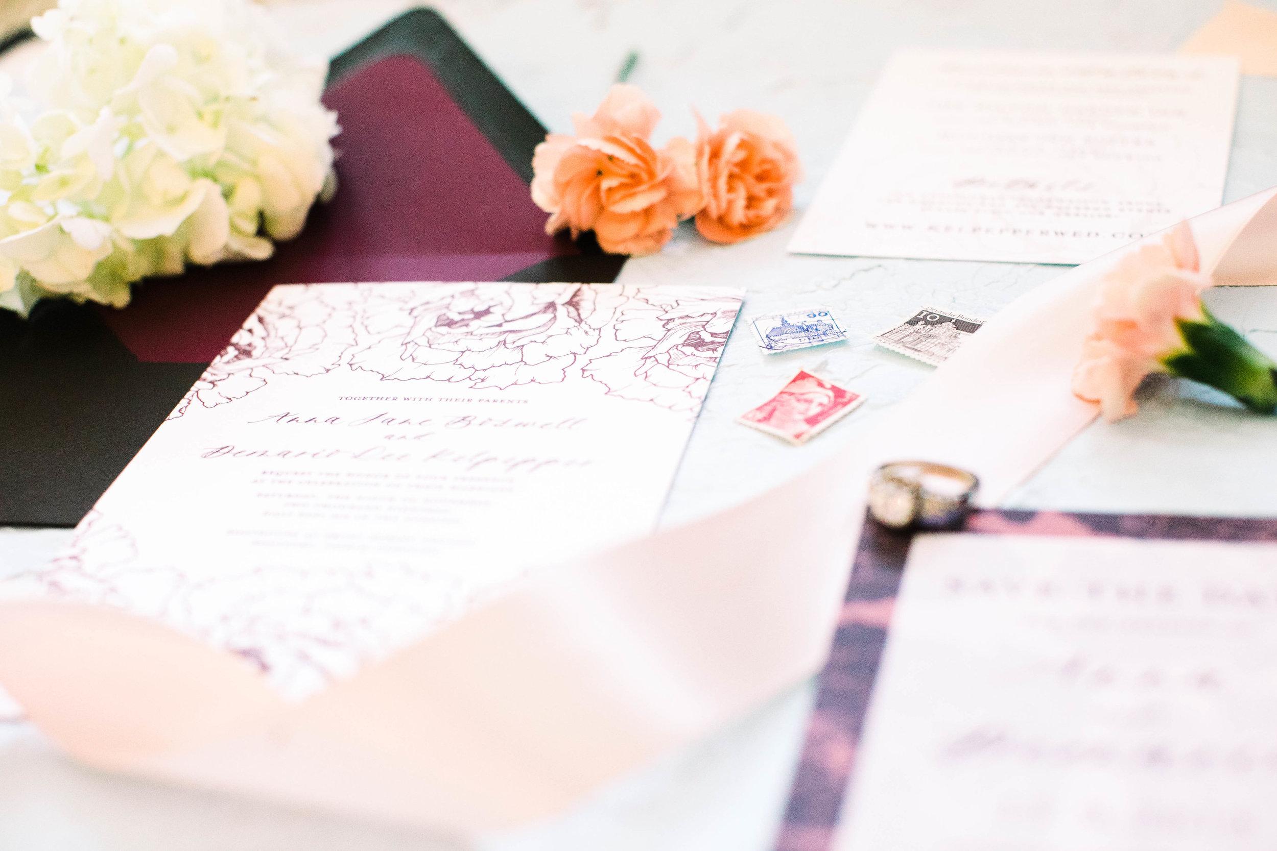 Anna Hand Drawn Wedding Invitation Burgundy Peonies Feathered Heart PrintsAnna 3W2A0391.jpg