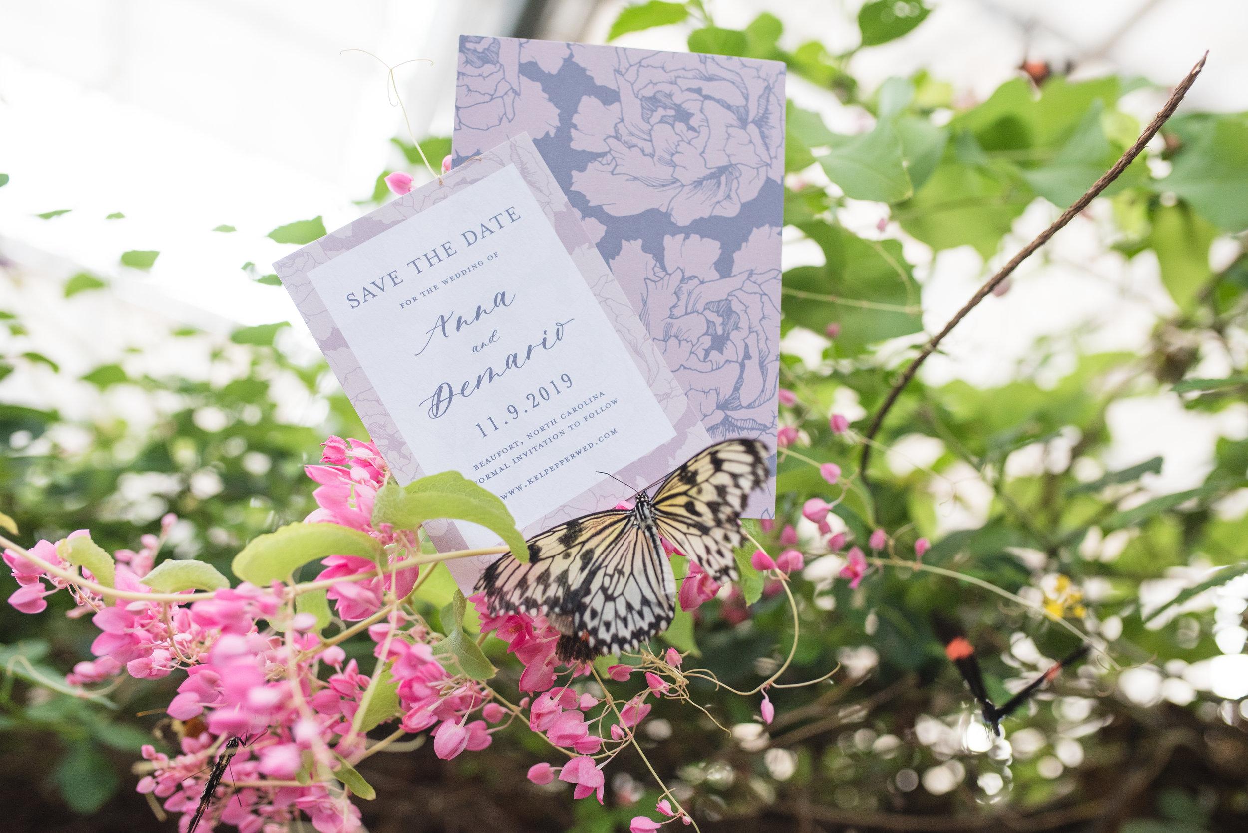 Anna Hand Drawn Wedding Invitation Pink Peonies Feathered Heart PrintsButterfly Garden (6 of 187).jpg