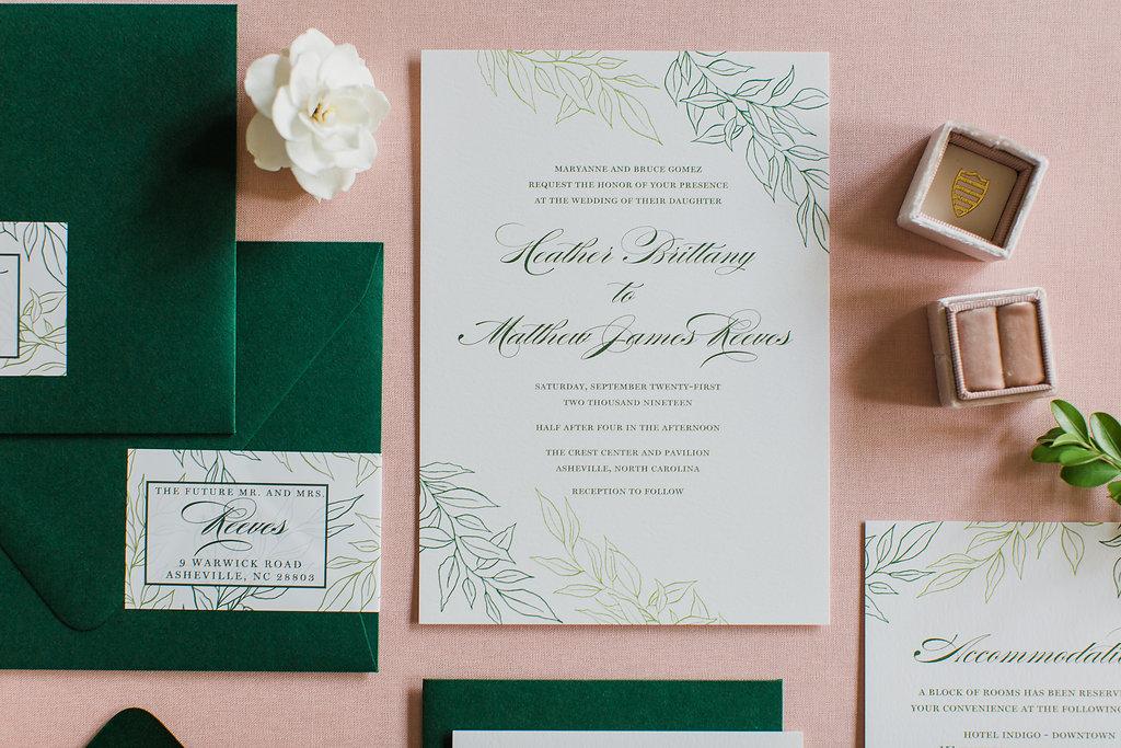 Heather Hand Drawn Wedding Invitation Greenery Feathered Heart PrintsFHP-29.jpg