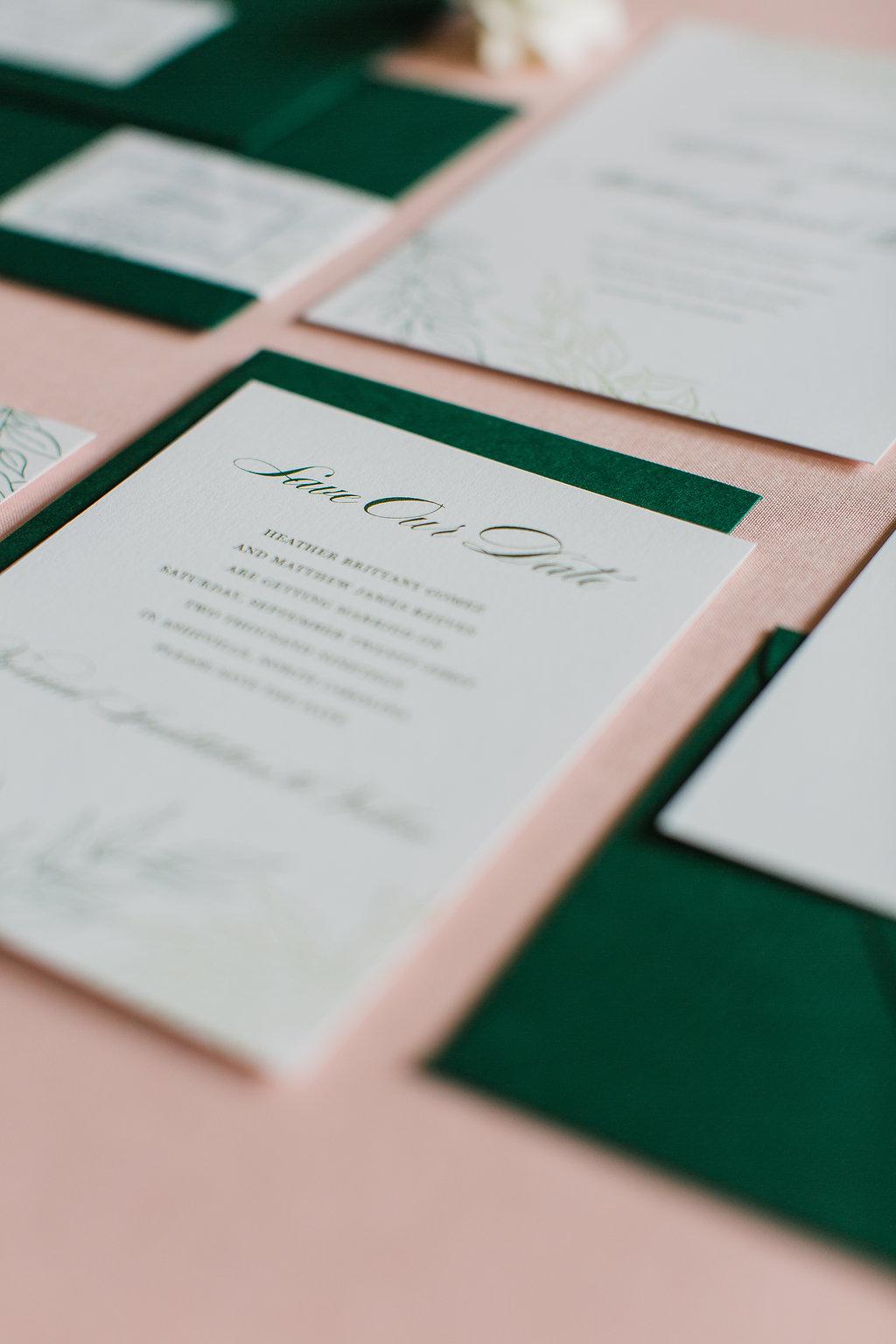 Heather Hand Drawn Wedding Invitation Greenery Feathered Heart PrintsFHP-30.jpg