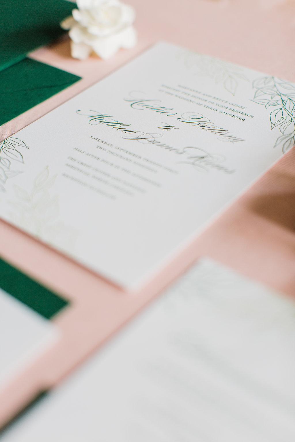 Heather Hand Drawn Wedding Invitation Greenery Feathered Heart PrintsFHP-31.jpg