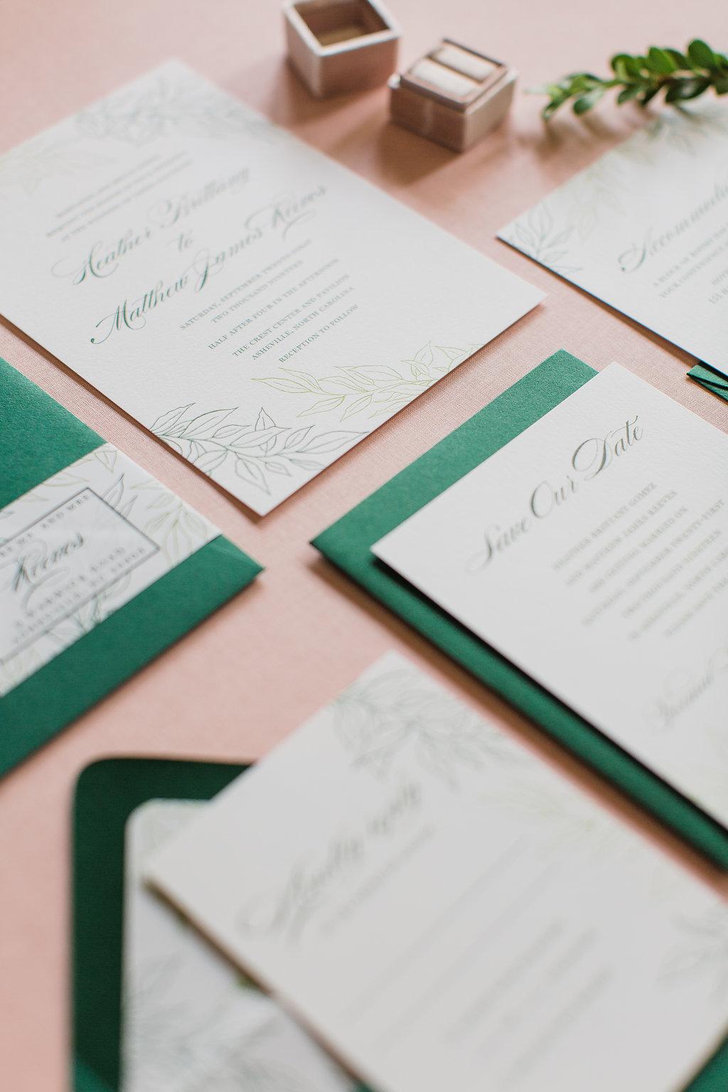 Heather Hand Drawn Wedding Invitation Greenery Feathered Heart PrintsFHP-32.jpg