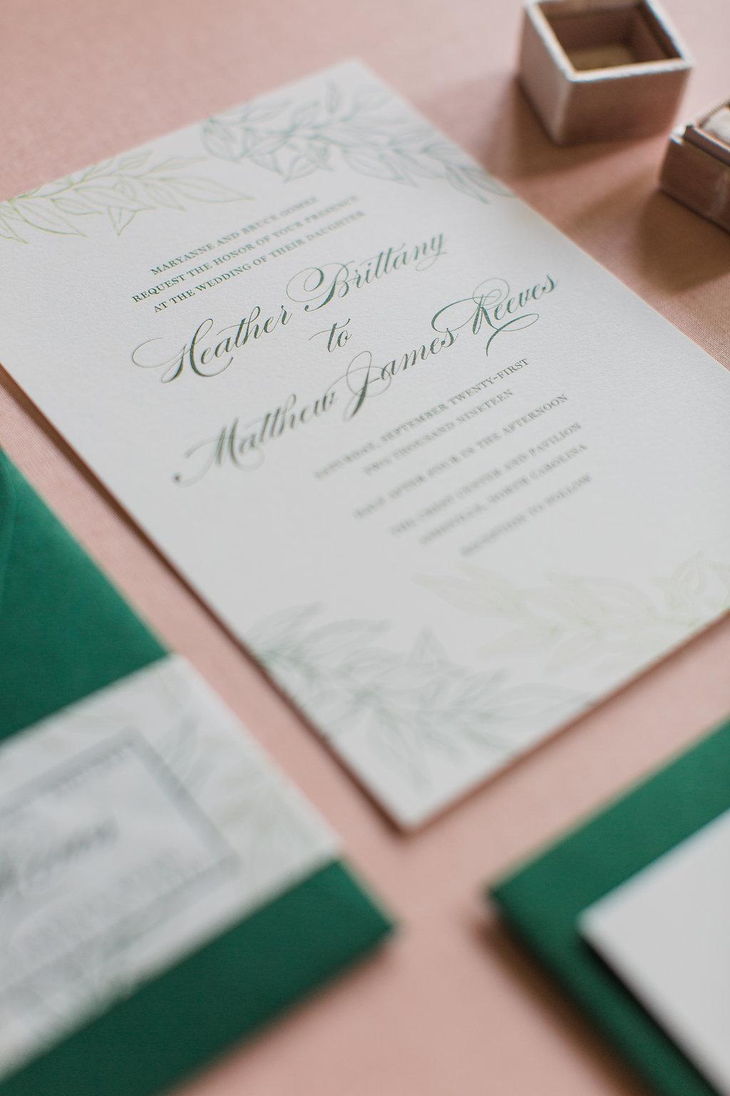 Heather Hand Drawn Wedding Invitation Greenery Feathered Heart PrintsFHP-33.jpg