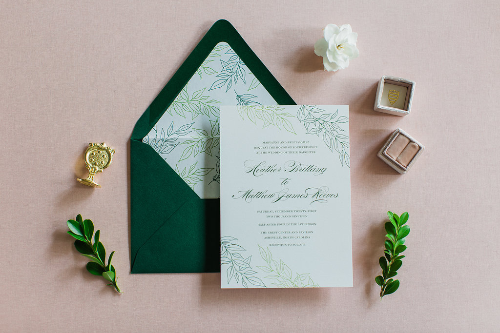 Heather Hand Drawn Wedding Invitation Greenery Feathered Heart PrintsFHP-35.jpg