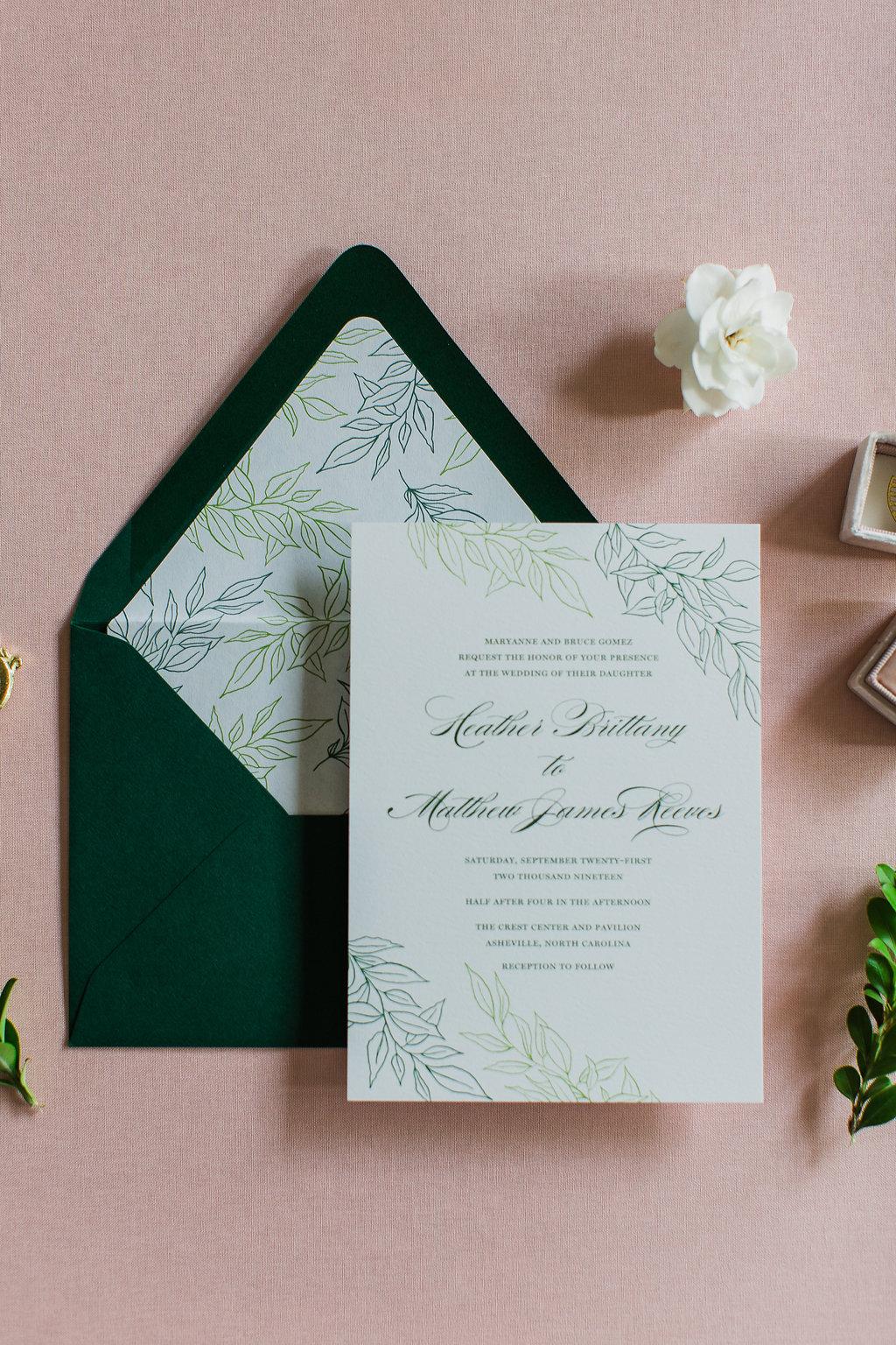 Heather Hand Drawn Wedding Invitation Greenery Feathered Heart PrintsFHP-36.jpg