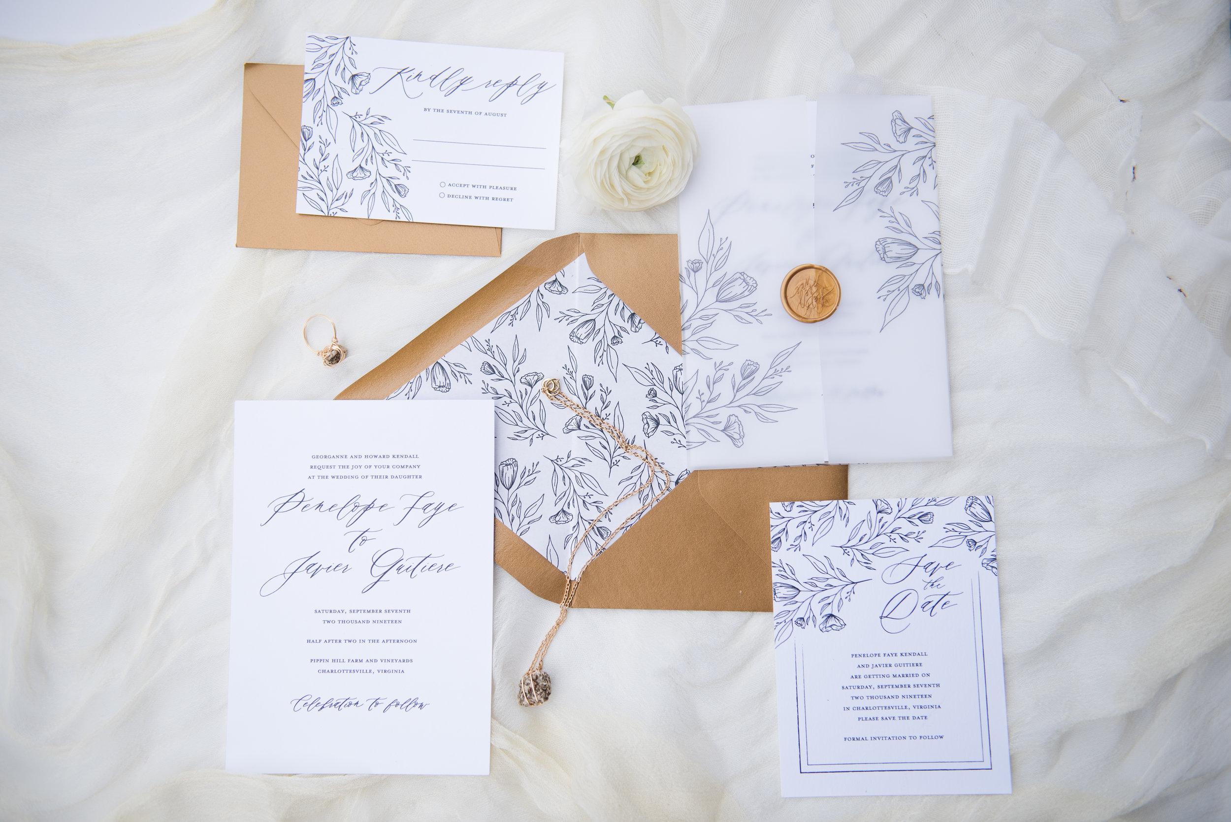 Penelope Hand Drawn Floral Wedding Invitation Feathered Heart PrintsKaeda & Michael (3 of 58).jpg