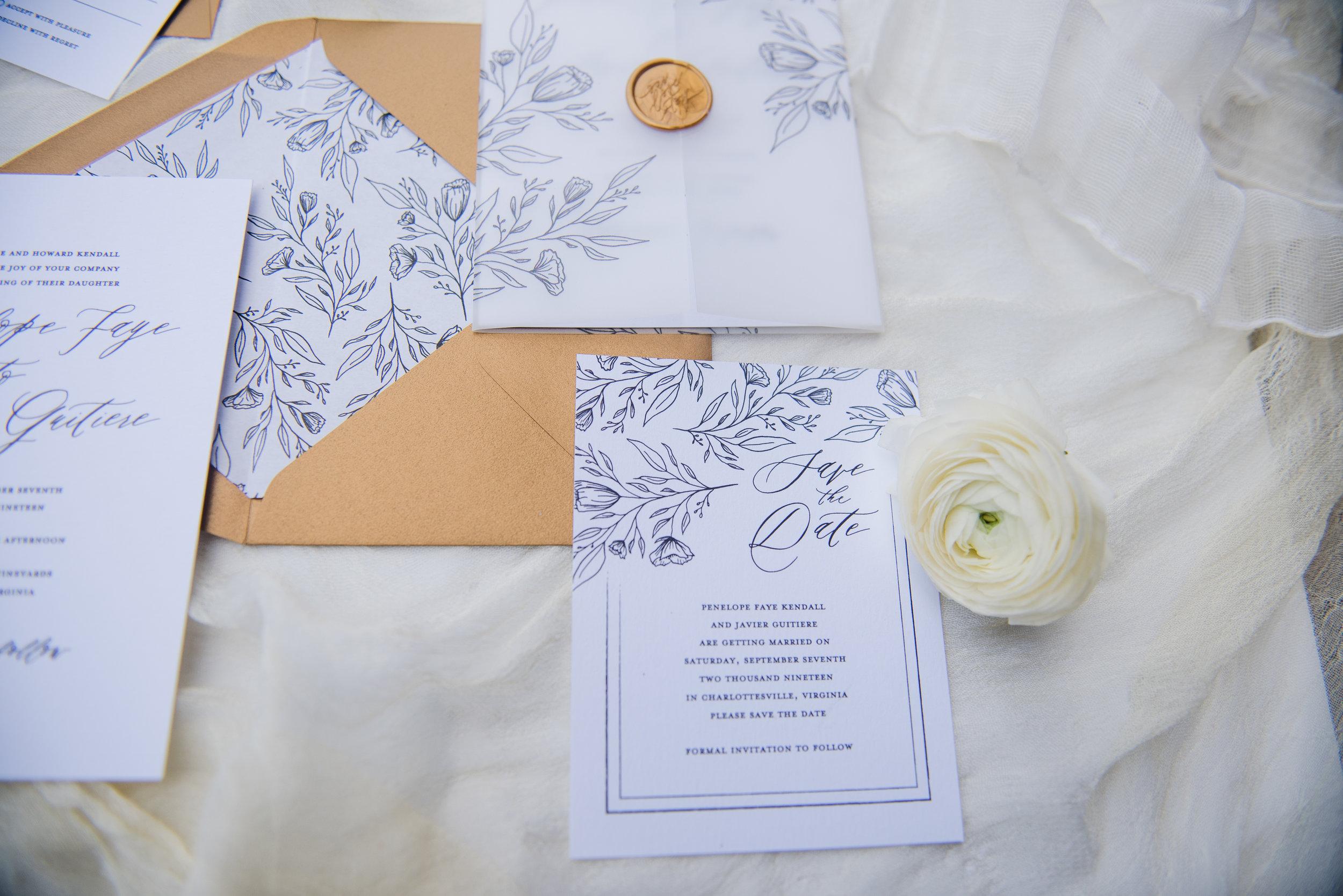 Penelope Hand Drawn Floral Wedding Invitation Feathered Heart PrintsKaeda & Michael (37 of 58).jpg