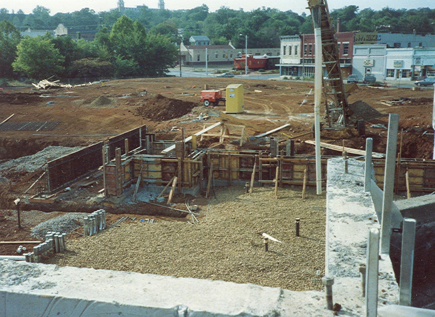 Construction of Walton Arts Center in 1991