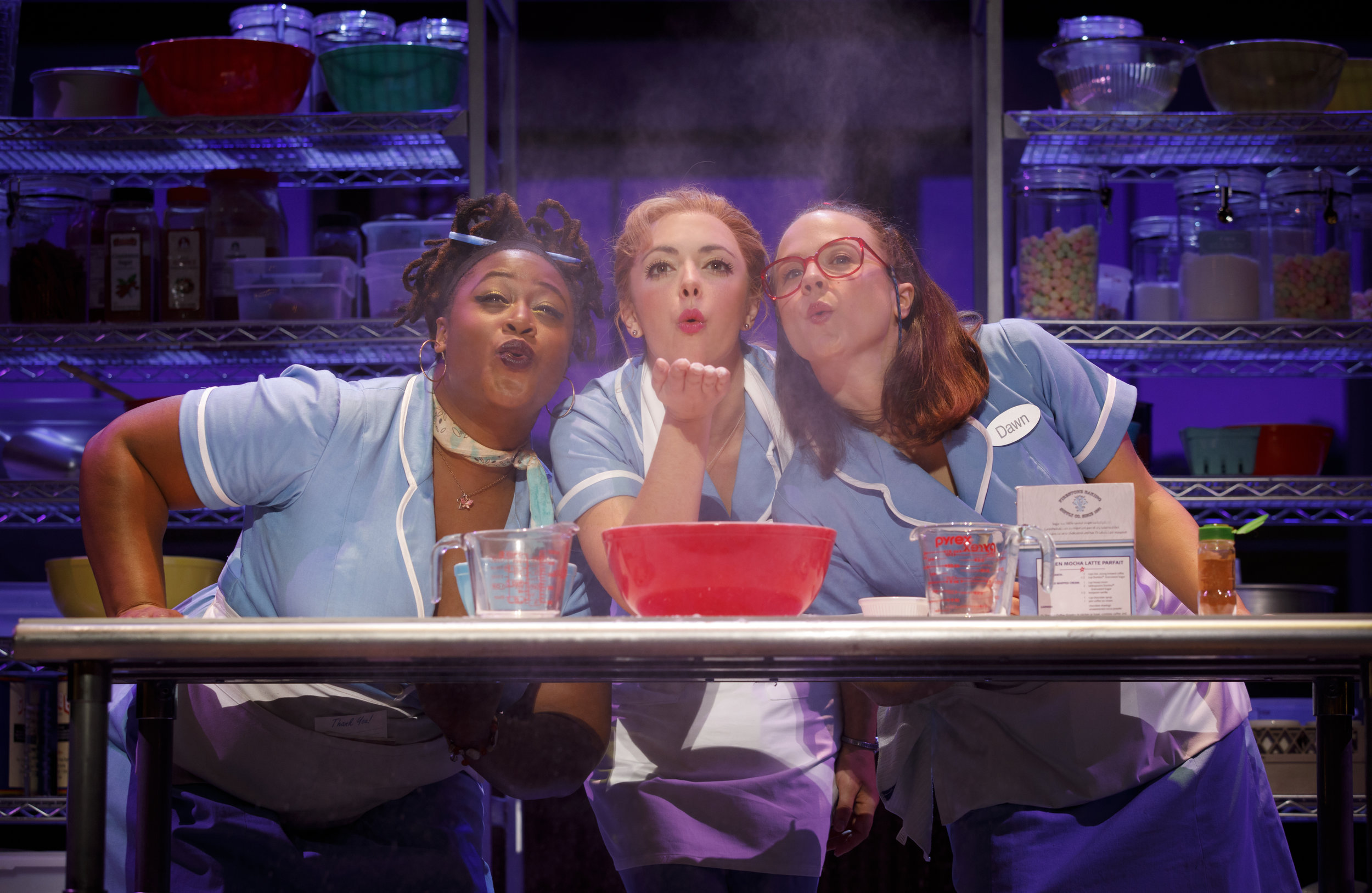 Charity Angel Dawson, Desi Oakley and Lenne Klingaman in the National Tour of WAITRESS  Credit Joan Marcus 0769r.jpg