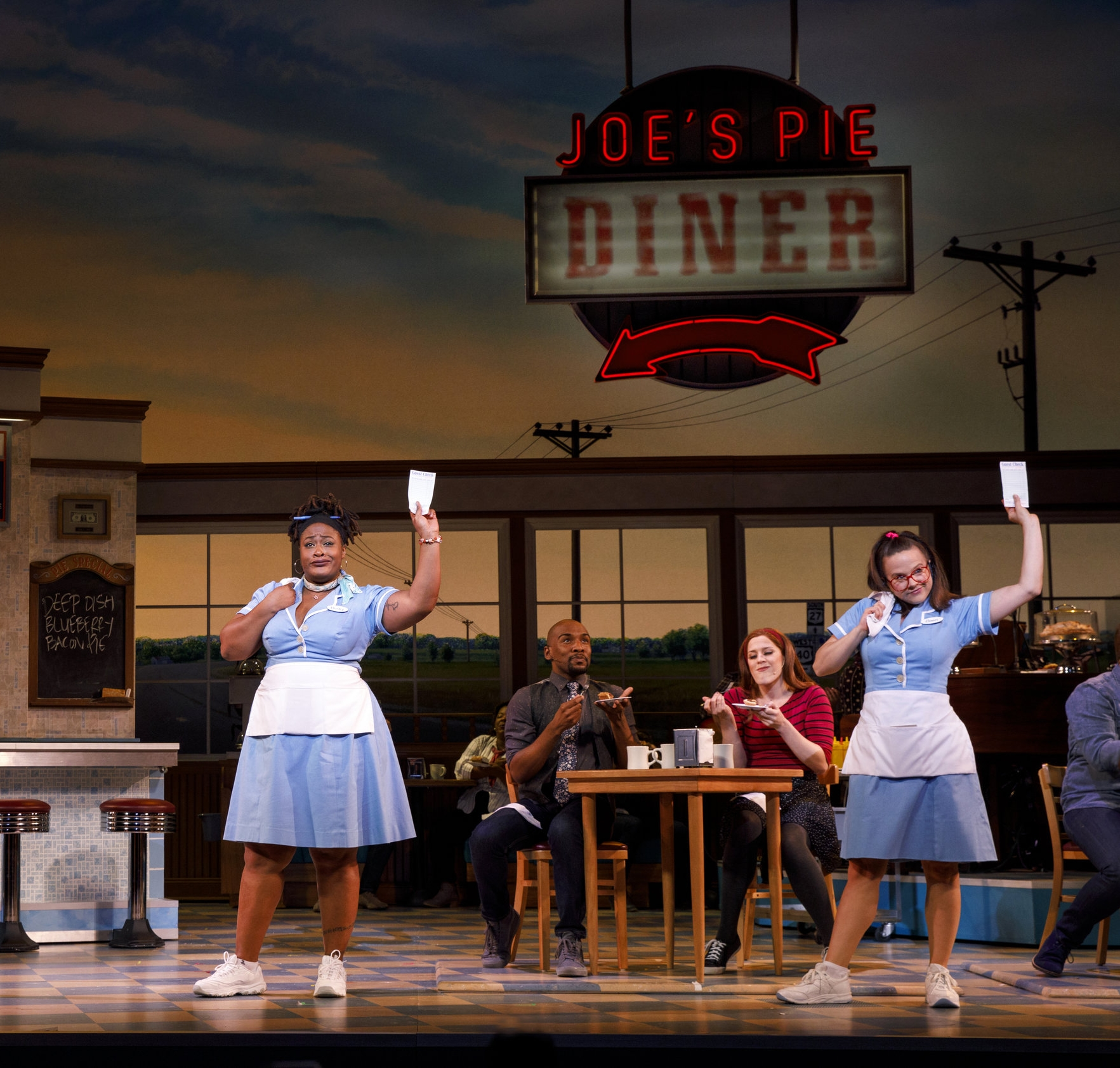 Desi Oakley, Charity Angel Dawson and Lenne Klingaman in the National Tour of WAITRESS  Credit Joan Marcus0587r.jpg