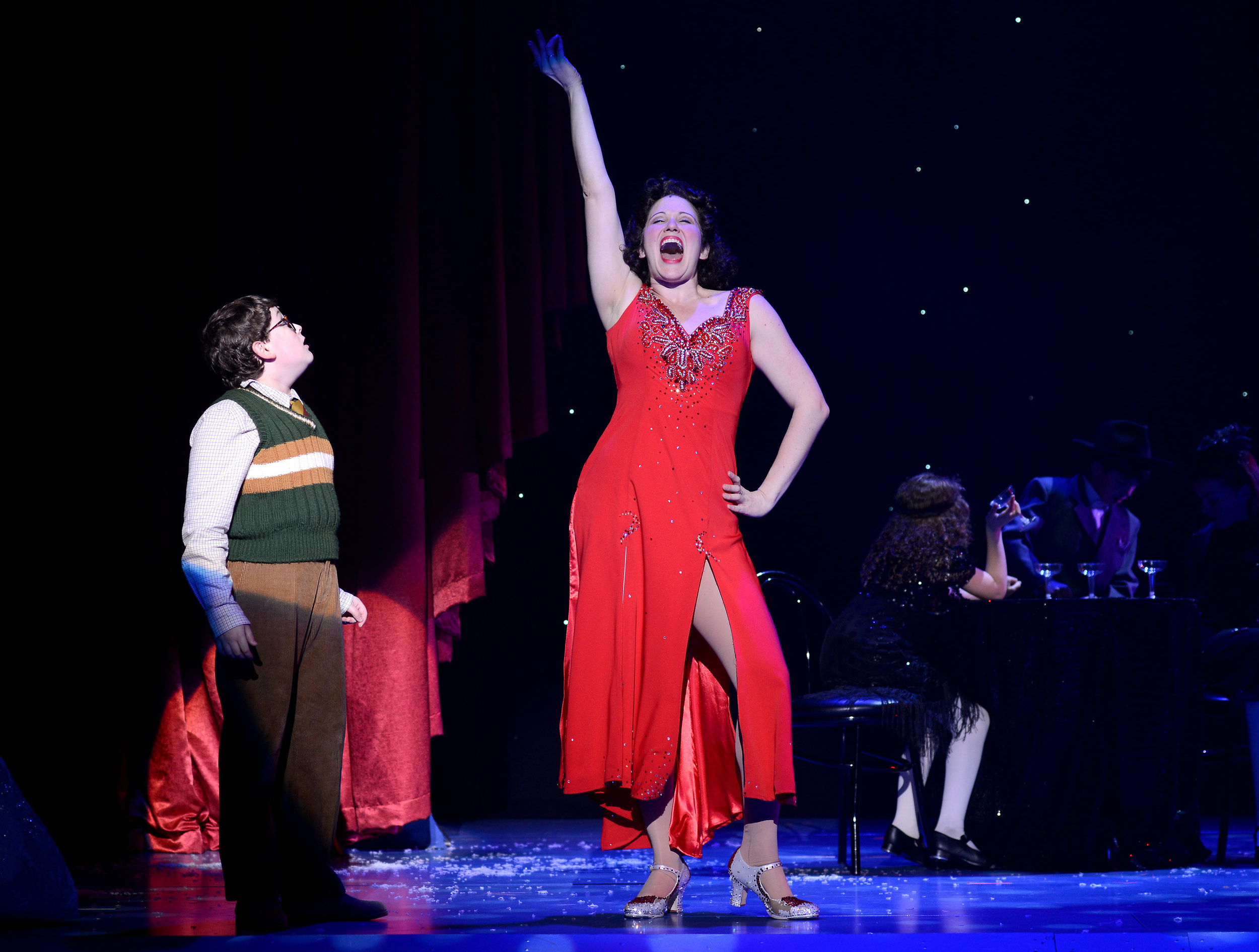 Photo 1 - Avital_Asuleen_as_Mrs_Shields_and_Evan_Gray_as_Ralphie_in_A_CHRISTMAS_STORY.JPG