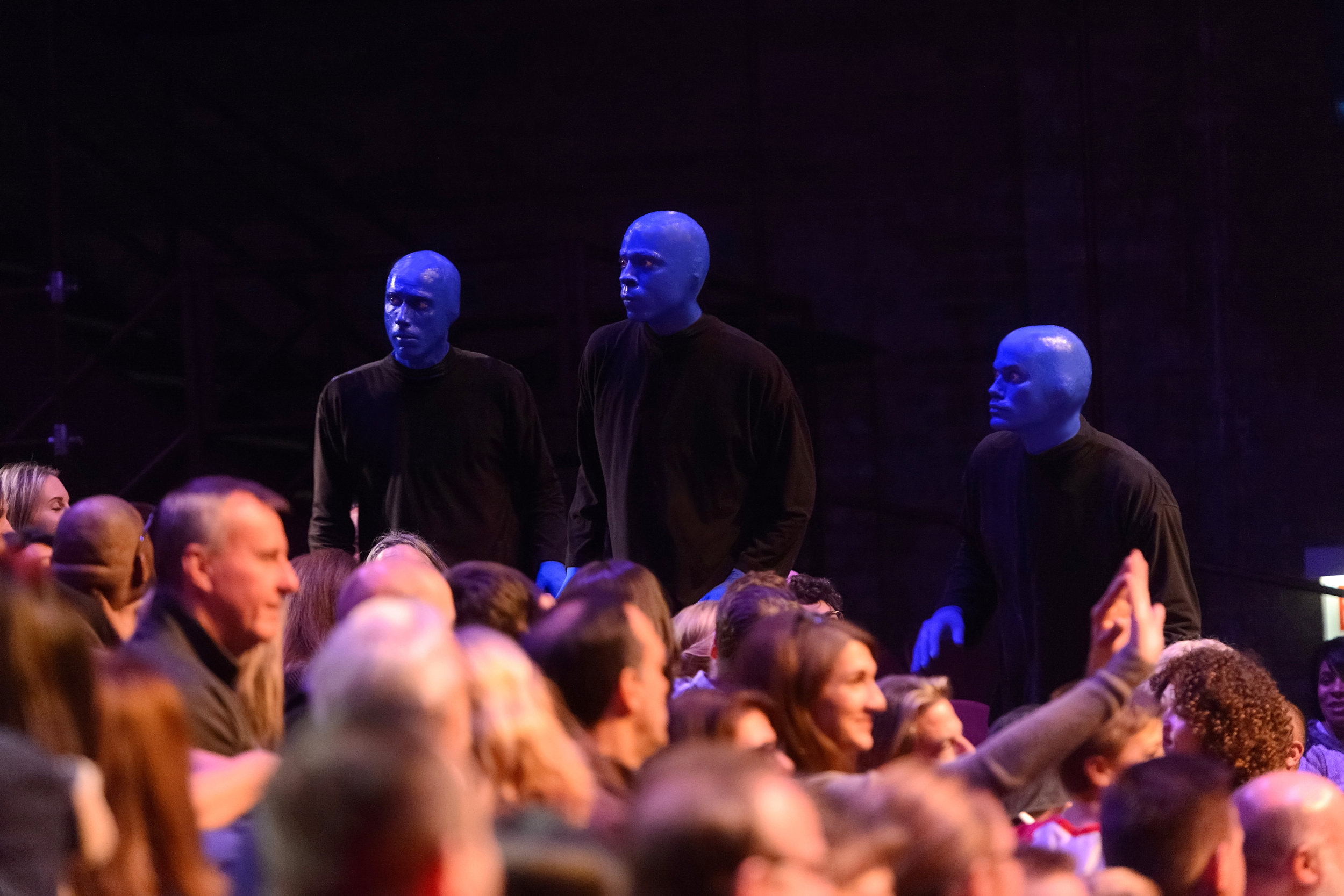 New Connections Between Blue Man Group and the Audience Photo Credit Daniel Boczarski 2 copy[1].jpg