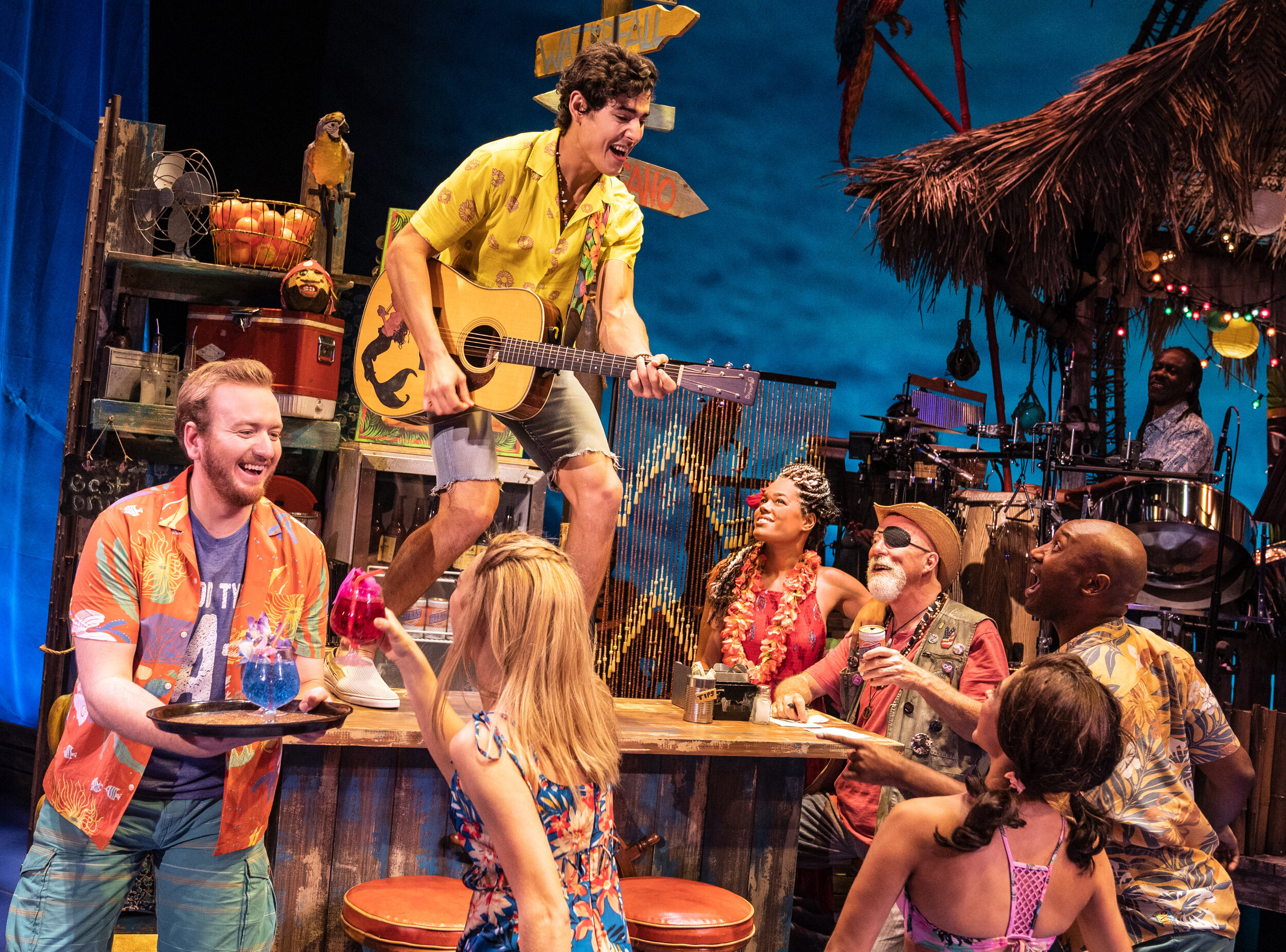 Company of the National Tour,Jimmy Buffett's ESCAPE TO MARGARITAVILLE. © Matthew Murphy