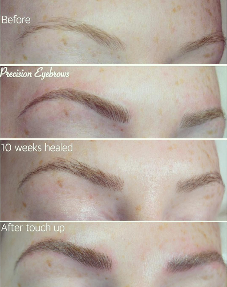 Precision Eyebrows Aftercare — Precision Spa