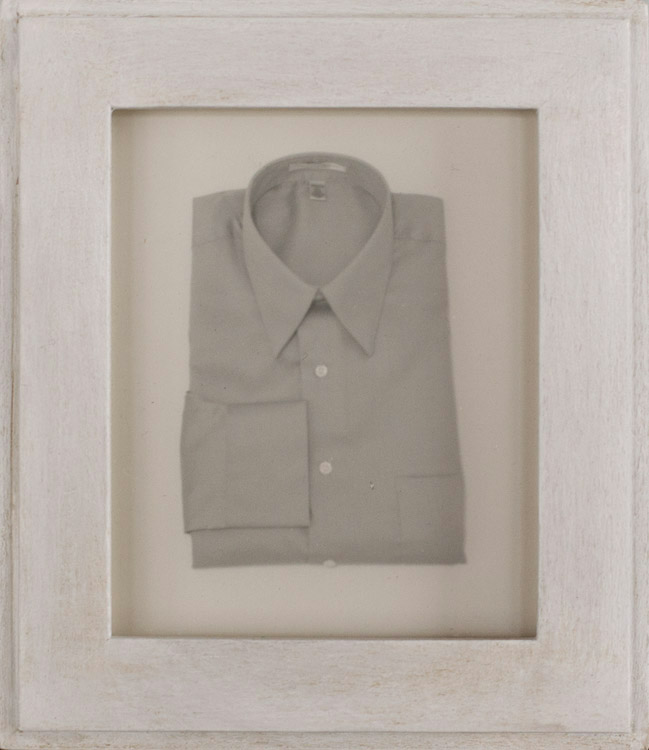 Dress Shirt           Silver gelatin print, artist made frame