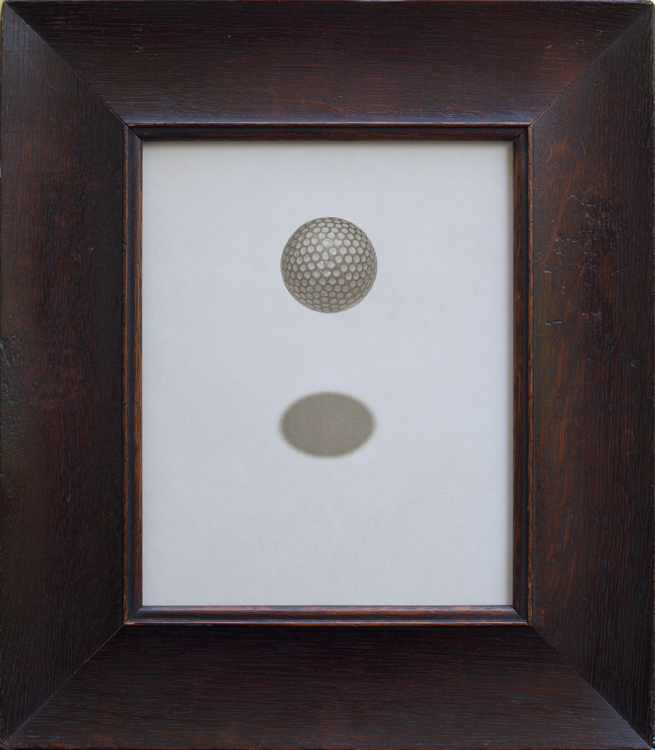 Golf Ball                 Pigment print, antique oak frame