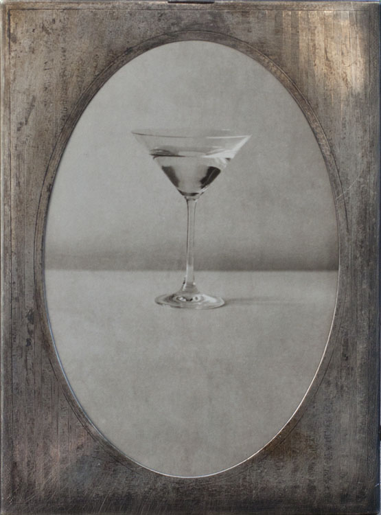 Martini                Pigment print, antique sterling silver frame