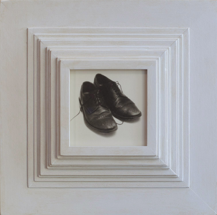 My Wingtips          Platinum print, artist made frame