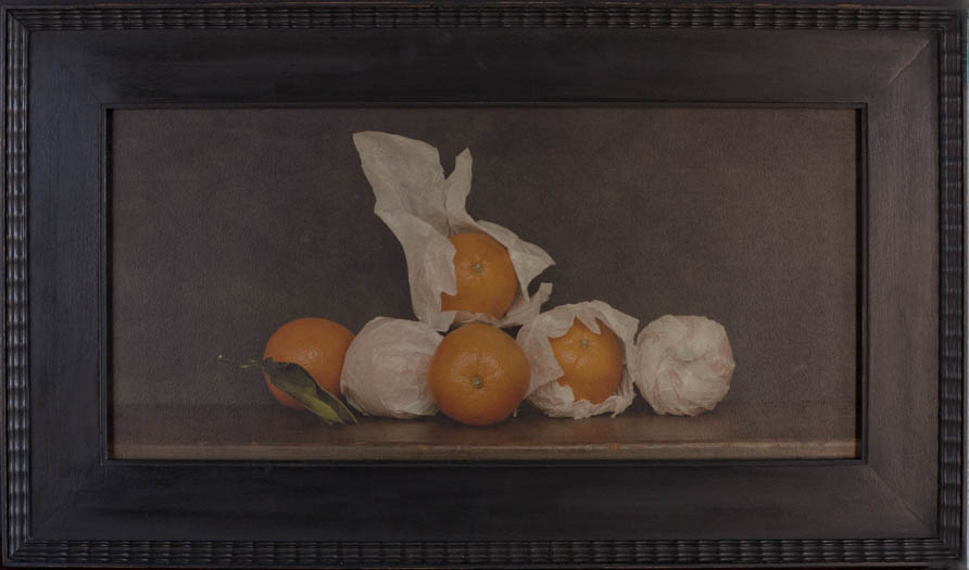 Still LIfe with Oranges                PIgment print, artist made frame