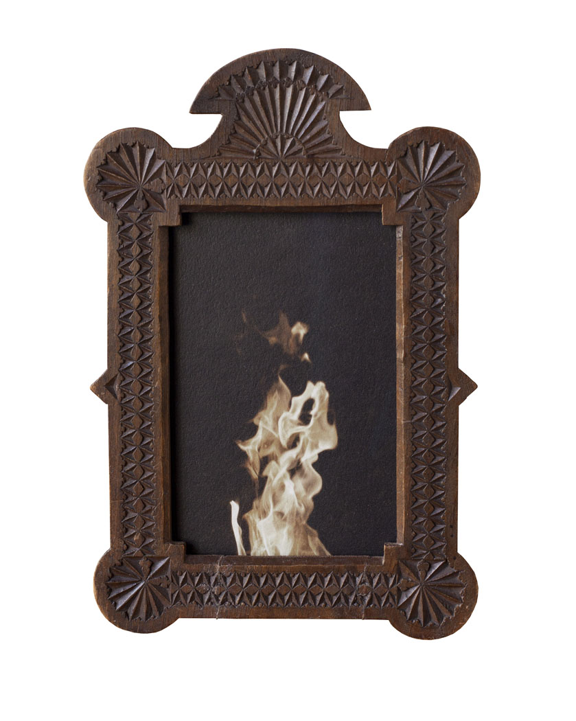 The Fire           Pigment print, antique Frissian frame