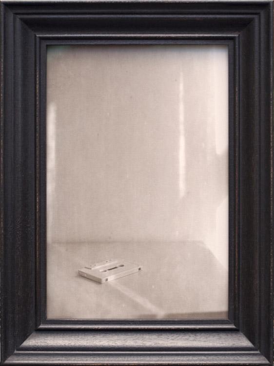 Tracks ( Sunbeam )           Pigment print, artist made Mahogany frame