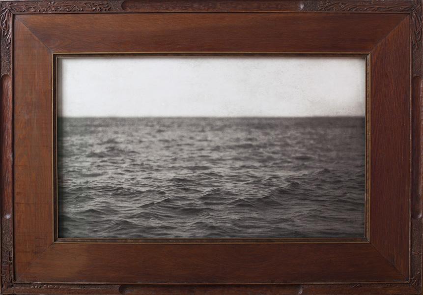 The Sound  Pigment print, antique oak frame