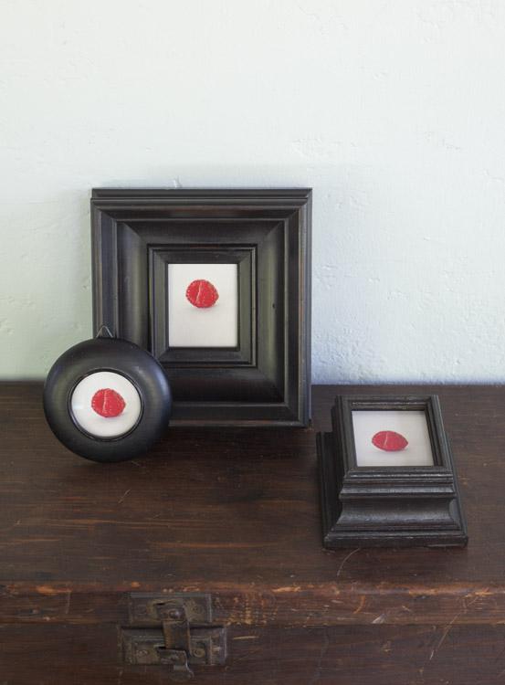 Garden ( Three versions )         pigment prints in antique frames