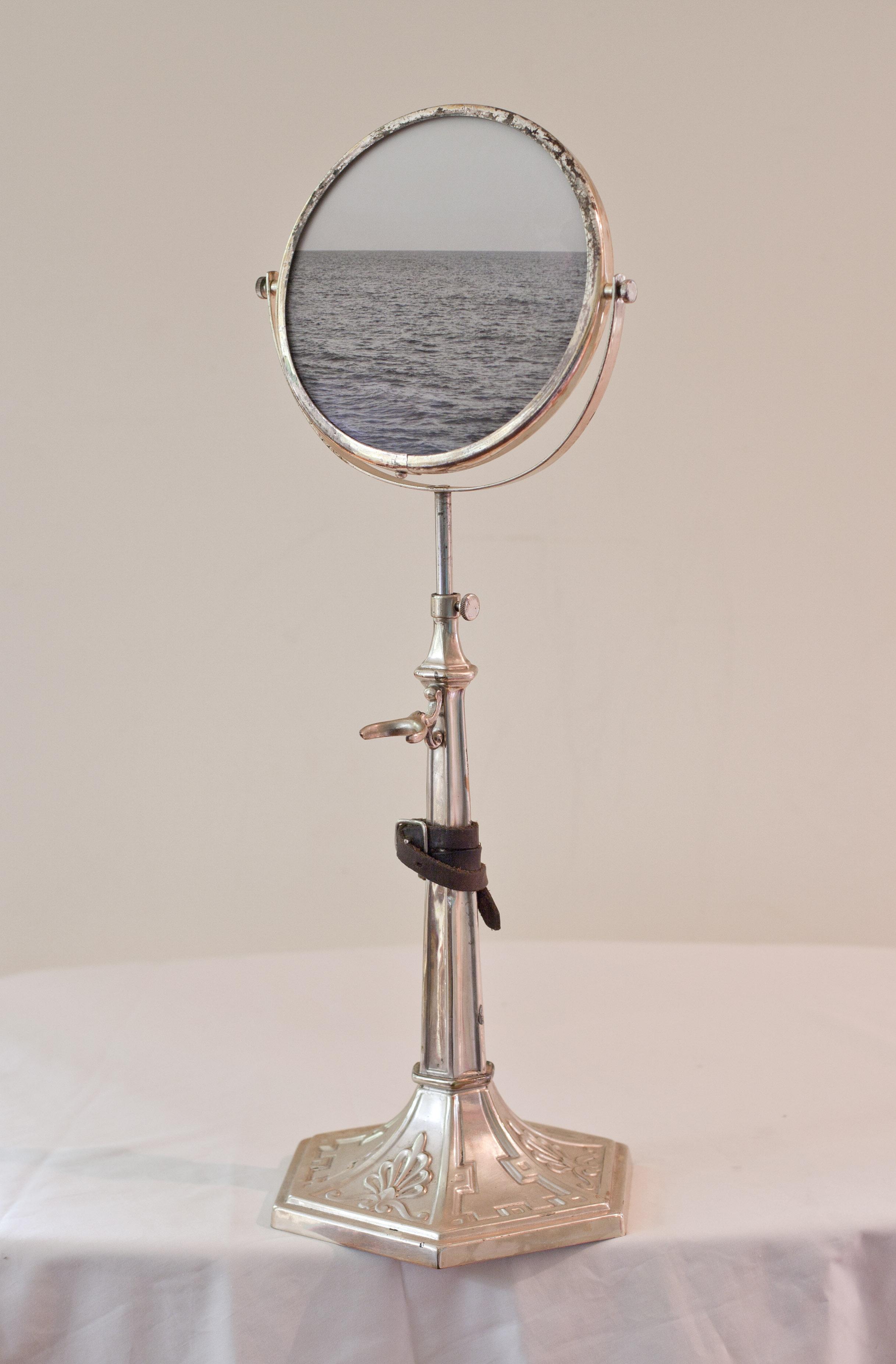 Bound for Glory  Pigment print, antique shaving mirror
