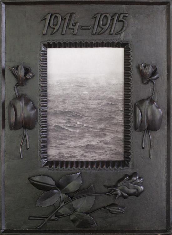 Rainstorm at Sea  Pigment print, antique carved frame