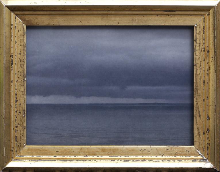 Approaching Storm, Elizabeth Islands PIgment print, antique gilded frame