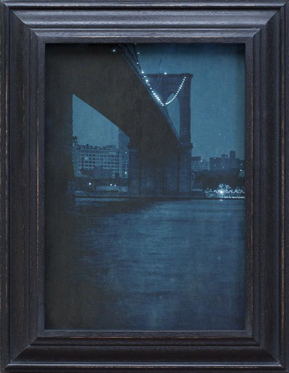 Brooklyn Bridge Nocturne      pigment print, artist made frame