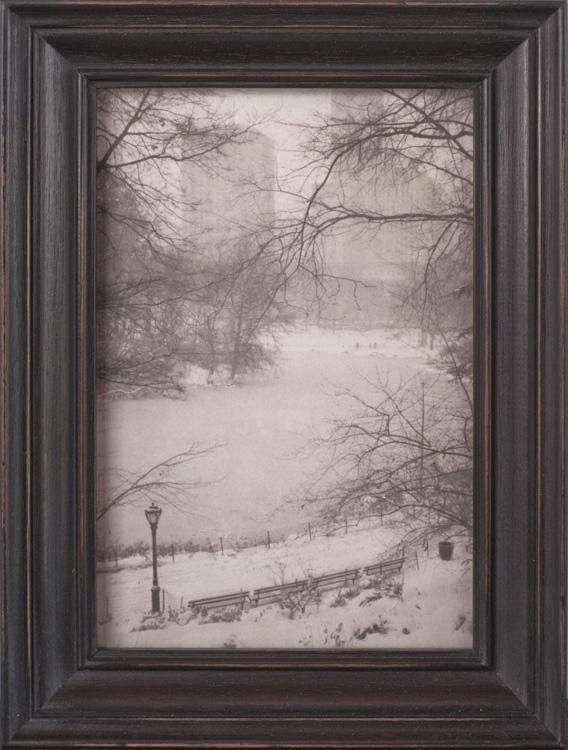 Frozen Pond, Central Park      Platinum print, artist made frame