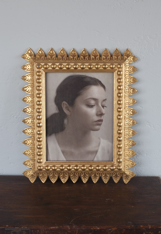 Alina in the Magic Hour  Pigment print, antique gilded frame