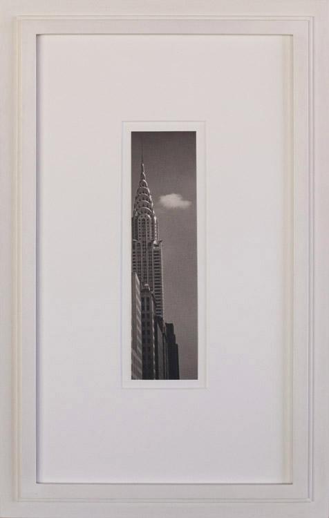Chrysler and Cloud     Platinum print, artist made frame