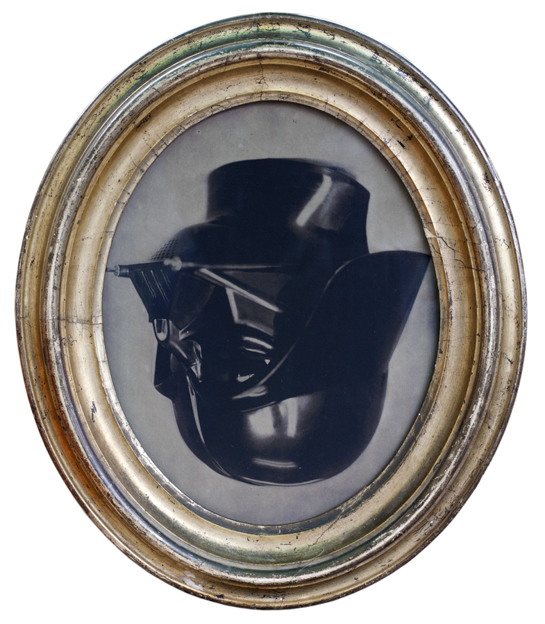 Good Fortune Talisman ( Inverted Vader )          pigment print, antique frame